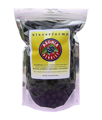 16 oz. pouch of Fresh-Frozen Aroniaberries